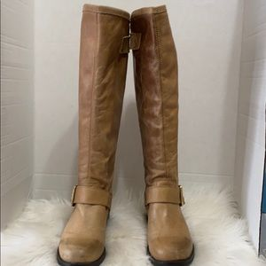 Steve Madden Knee High Boots Brown leather